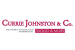 Currie Johnston & Co incorp. Wood & Muir Logo